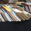Line of antique very rare books for sale — Stock Photo #71957073