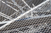 Iron grid and ferrous material in the landfill — Stock Photo