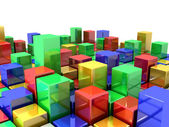 Box Abstract Background — Stock Photo