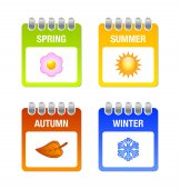 Four season icons — Stock Vector