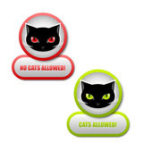 Cats permission icons — Stock Vector