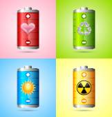 Iconos de energía — Vector de stock