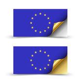 Avrupa bayrak — Stok Vektör