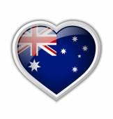 Icona del cuore australiano — Vettoriale Stock