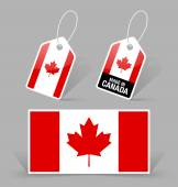 Canadian flag and tags — Stockvector