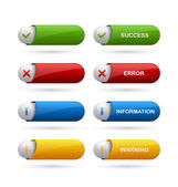 Notification buttons — Stock Vector