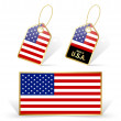American flag and tags — Stock Vector #56714287