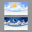 Day and night cards — Stock Vector #56715579