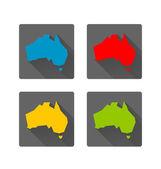 Australia icons — Stock Vector