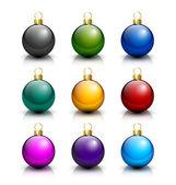 Various Christmas balls — Stock Vector