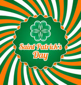 St. patrick's Day-Abzeichen — Stockvektor