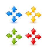 Flèches colorées — Vecteur