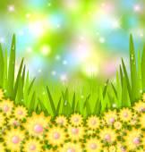 Bahar çimen — Stok Vektör