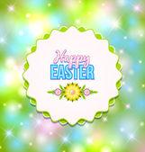 Happy Easter badge — Stock Vector