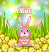 Happy Easter card template — Stock Vector