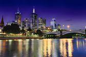 Melbourne & Blue Hour — Stock Photo