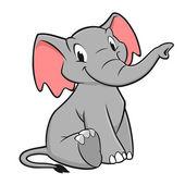 Cartoon Elephant — Stock Vector