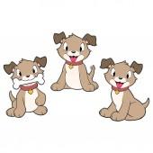 Cartoon Puppies — Stok Vektör