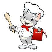 Cartoon Chef Mouse — Stock Vector