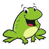 Cartoon Funny Frog — Stock Vector