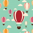 Background with hot air balloons, seamless pattern — Stock Vector #66658167