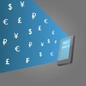 Money transfer — Stock Vector