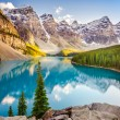 Landscape view of Moraine lake in Canadian Rocky Mountains — Stock Photo #53410135