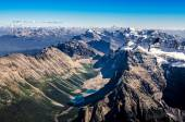 Mountain range view from Mt Temple, Banff NP, Alberta, Canada — Stock Photo