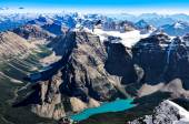 Mountain range view from Mt Temple with Moraine lake, Banff — Stock Photo