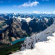 Mountains range view from Mt Temple with Moraine lake, Canada — Stock Photo #60559601