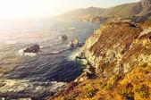 Wild ocean coastline, Big Sur, California, USA — Stock Photo