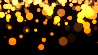 Golden defocused blurred particles — Stock Video