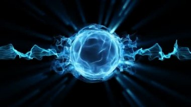 Plasma magic sphere ball — Stock Video
