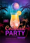 Disco background. Cocktail party poster — Cтоковый вектор