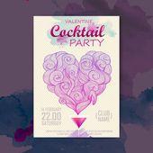 Valentine disco poster. Valentine background — Vettoriale Stock