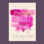Valentine disco poster. Valentine background — Stock Vector