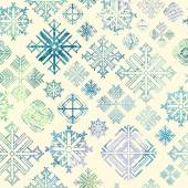 Seamless snowflake winter watercolor Christmas background — 图库矢量图片