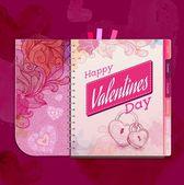 Happy valentine day background — Stock Vector
