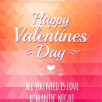 Valentine triangle background. Disco poster — Stock Vector #53709891