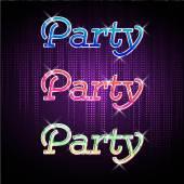 Neon sign. Disco party — Stock Vector