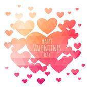 фон треугольник сердца валентина — Cтоковый вектор