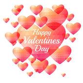 Valentine triangle heart background — Stock Vector
