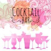 Fond triangle cocktail — Vecteur
