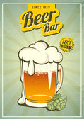 Vintage beer or brewery  poster — Stock Vector