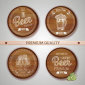Set of labels with beer — ストックベクタ