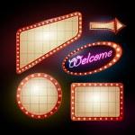 Neon sign. set of retro frames — Stock Vector #57591885