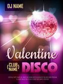 Disko Valentine Hintergrund. Disko-poster — Stockvektor