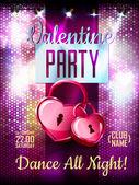 Disco Valentine background. Disco poster — Wektor stockowy