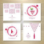 ワイン アート ・ カードやラベル デザイン — ストックベクタ