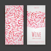Conjunto de rótulos de vinhos. Aquarela artistico — Vetor de Stock